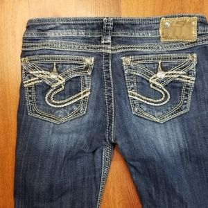 Silver Pioneer Jeans Size 27 X 27 Womens Low Rise